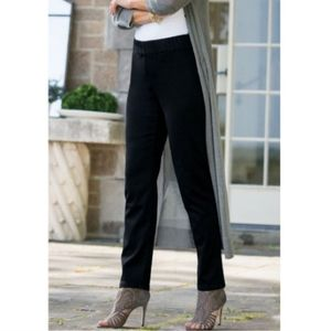Soft Surroundings The Amazing Black Pants Pull On